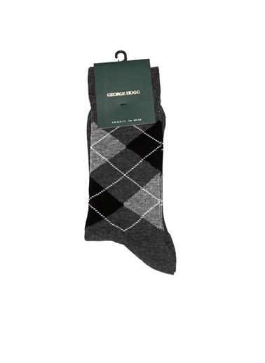 George Hogg George Hogg Ekoseli Erkek Çorap Gri